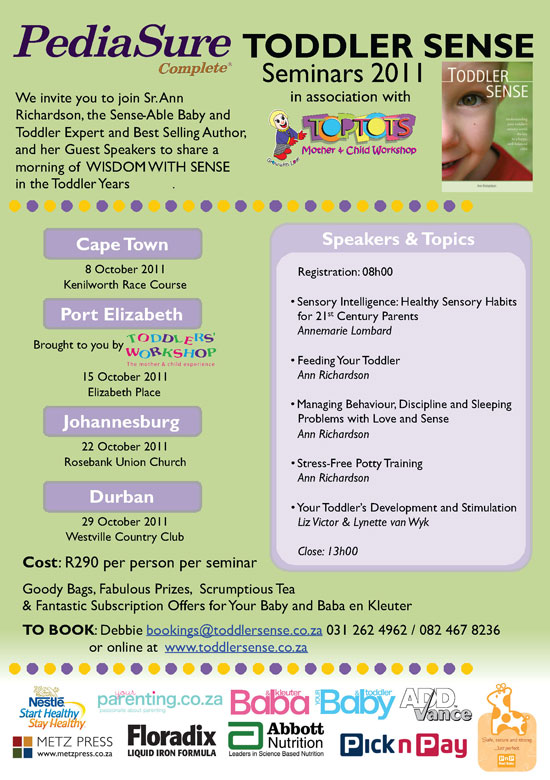 Toddler Sense Seminars 2011